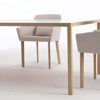 Arco SALE | Arco Slim+ | 105 x 105 x 75 cm | White getacore | Bruin oak natural