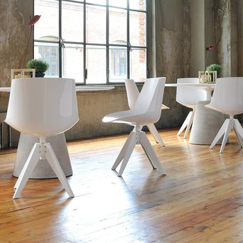MDF Italia MDF Italia Flow Chair | Padded | VN stalen 4 poots