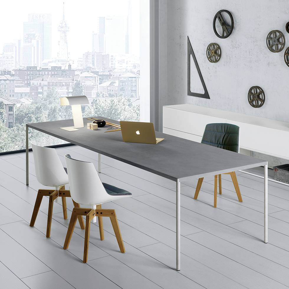 mdf italia mdf italia flow chair padded four legged oak workbrands. Black Bedroom Furniture Sets. Home Design Ideas