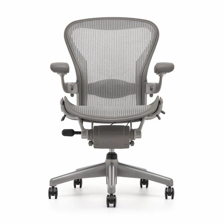 Refurbished Herman Miller Aeron Chair Smoke Titanium Workbrands
