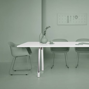 Refurbished Ergonom MDL | Vergadertafel | B 240 x D 100 x H 73 cm