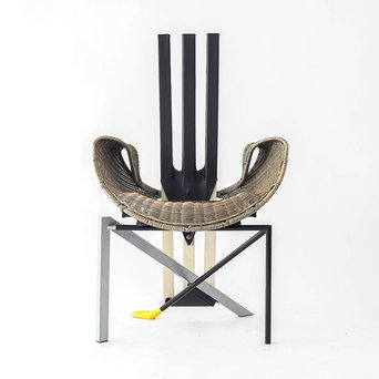 Vitra OUTLET | Vitra Documenta Chair | Bruin riet