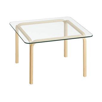 Artek OP=OP | Artek Glass Table Y805B | Bruin berken naturel | Transparant glas