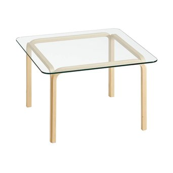 Artek SALE | Artek Glass Table Y805B | Braun birke naturel | Transparent glas