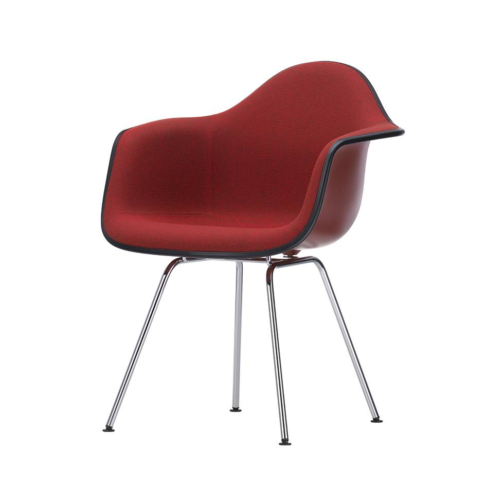 Vitra Eames Plastic Armchair DAX   With Full Upholstery