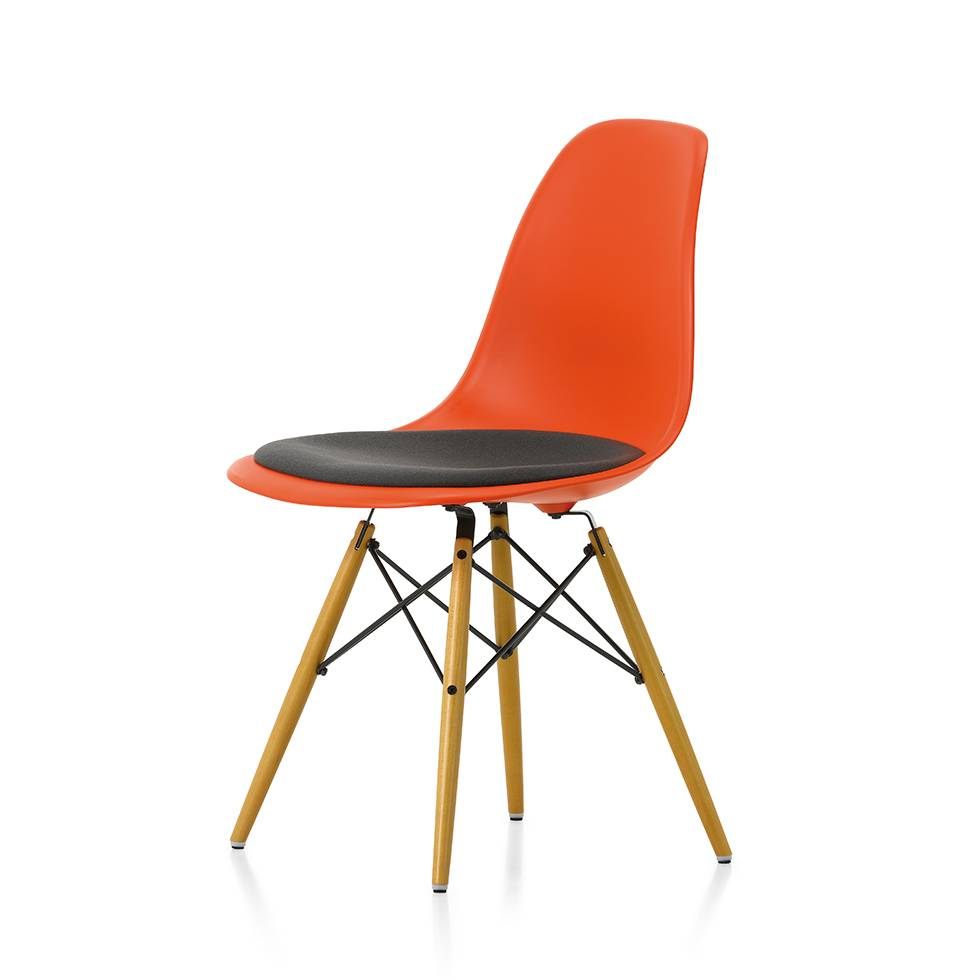 vitra vitra eames plastic side chair dsw seat upholstery workbrands