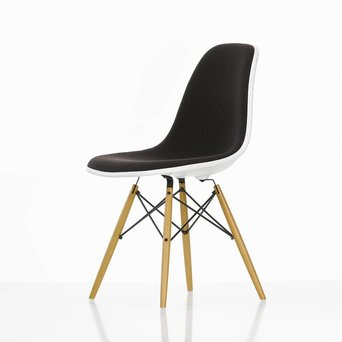 Vitra Vitra Eames Plastic Side Chair DSW | With full upholstery