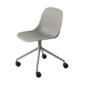 Muuto Muuto Fiber Side Chair | Kruisvoet op wielen