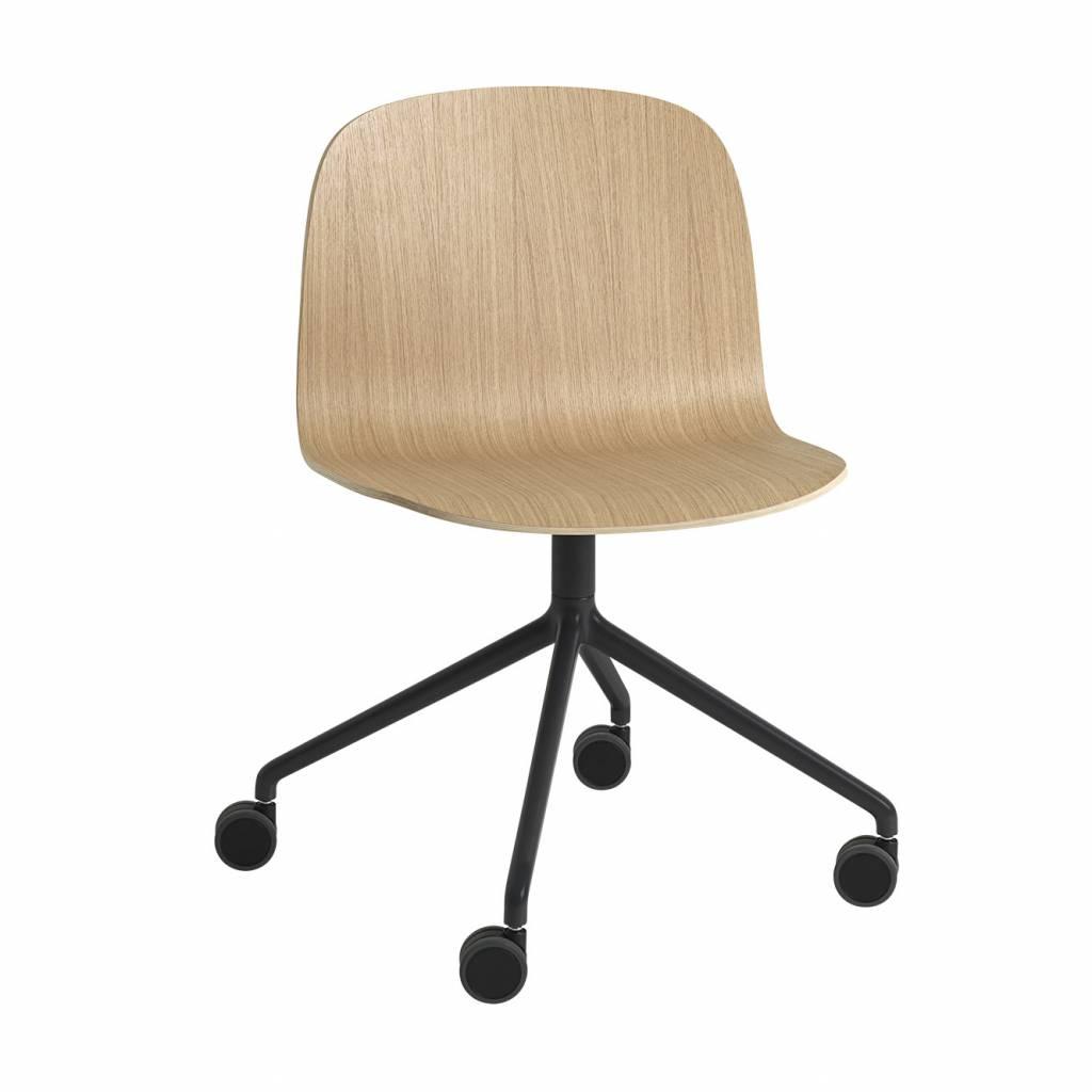Muuto Muuto Visu Wide Chair Swivel Base With Castors