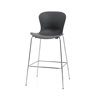 Fritz Hansen SALE | Fritz Hansen Nap KS58 Barstool | Pepper grey plastic | Chrome steel