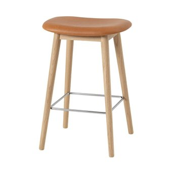 Muuto Muuto Fiber Bar Stool | Wood base | Volledig bekleed