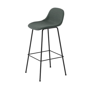 Muuto Muuto Fiber Bar Stool w. backrest | Tube base | Volledig bekleed