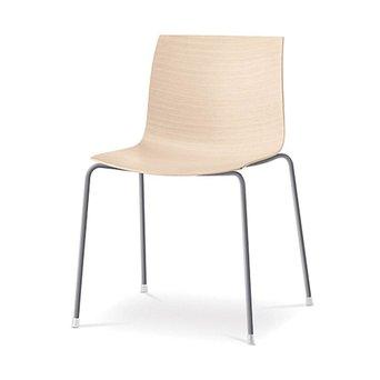 Arper Arper Catifa 46 | 4-beinig Stahl | Sitzschale aus Holz