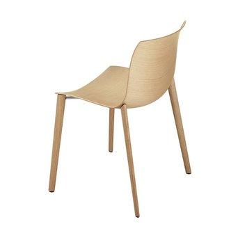 Arper Arper Catifa 46 | 4-beinig Holz | Sitzschale aus Holz