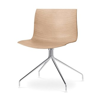 Arper Arper Catifa 46 | Kreuzfuß | Chrom | Sitzschale aus Holz