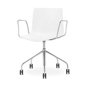 Arper Arper Catifa 46 | Bureaustoel | Chroom | Kunststof zitschaal