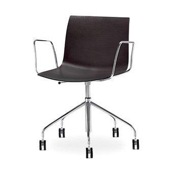 Arper Arper Catifa 46 | Bürostuhl | Chrom | Sitzschale aus Holz