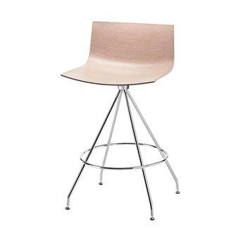 Arper Arper Catifa 46 | Barhocker | Kreuzfuß | Sitzschale aus Holz
