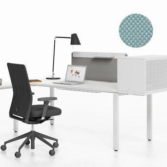 Vitra SALE | Vitra WorKit | Feststehender Schirm 100 für Einzelarbeitsplatz | Nova eisgrau