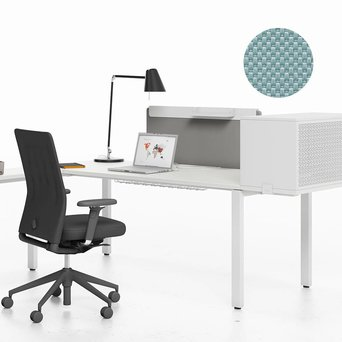 Vitra SALE   Vitra WorKit   Fixed screen 100 for single desk   Ice grey nova