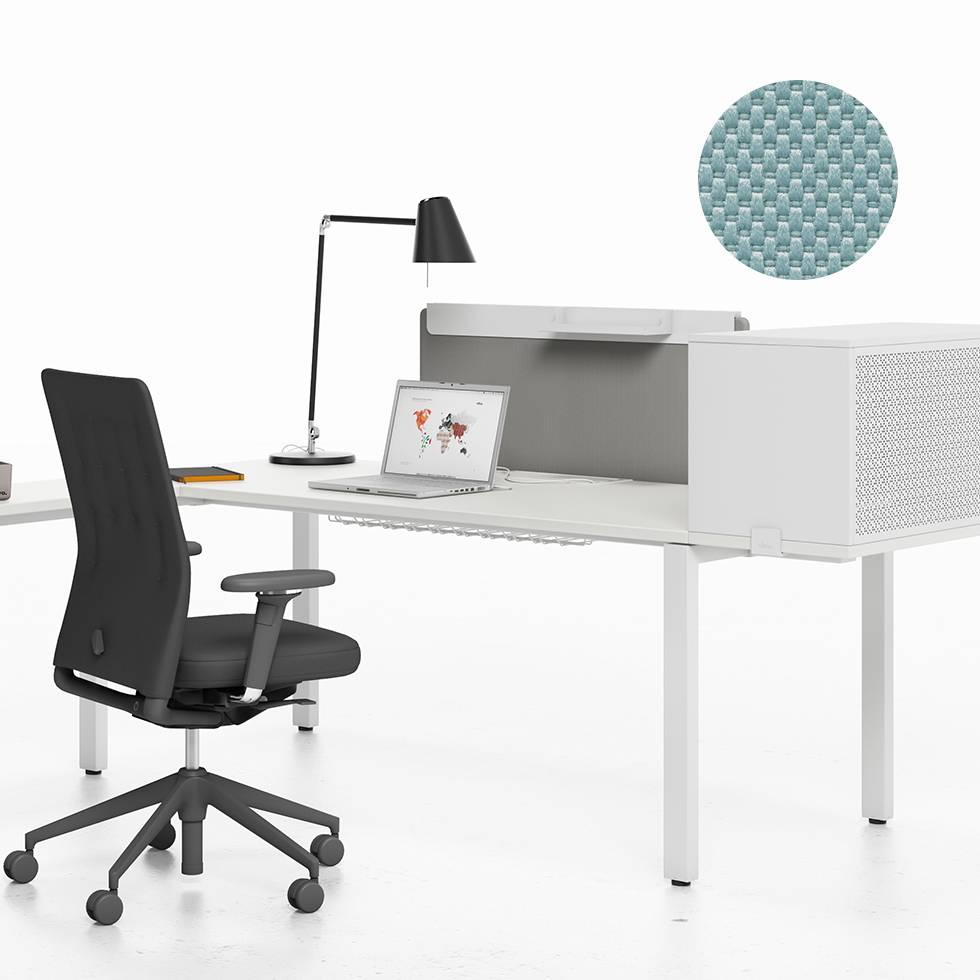 Vitra Workit Fixed Screen 100 For Single Desk Ice Grey Nova
