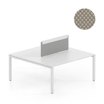 Vitra OUTLET | Vitra WorKit | Vast scherm voor dubbele werkplek | Bruin nova steen | 100 x 39 cm
