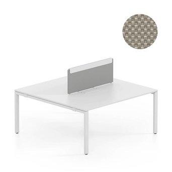 Vitra SALE | Vitra WorKit | Feststehender Schirm für doppelten Arbeitsplatz | Braun nova stein | 120 x 40 cm