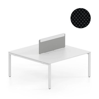 Vitra OUTLET | Vitra WorKit | Fixed screen for duo bench | Black nova 66 | 100 x 39 cm