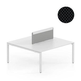 Vitra SALE | Vitra WorKit | Feststehender Schirm für doppelten Arbeitsplatz | Schwarz nova 66 | 100 x 39 cm