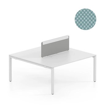Vitra SALE | Vitra WorKit | Feststehender Schirm für doppelten Arbeitsplatz | Nova eisgrau | B 160 x H 39 cm