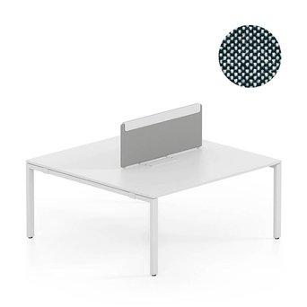 Vitra SALE | Vitra WorKit | Feststehender Schirm für doppelten Arbeitsplatz | Schwarz / crème weiß plano 87 | 100 x 39 cm