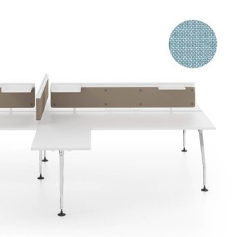 Vitra SALE | Vitra Ad Hoc Schirm fur Doppelter Arbeitsplatz | B 140 x H 31,5 cm | Plano hellgrau / eisblau