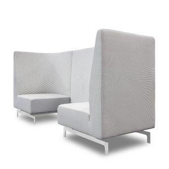 Arco SALE | Arco Side by Side Highback | B 240 x T 80 x H 120 cm | Triangle smoke / Hero 101 / 211 | RVS