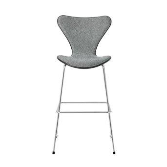 Fritz Hansen Fritz Hansen Series 7 | 3187 | Counter Stuhl | Vorderseite bezogen | Esche gefärbt