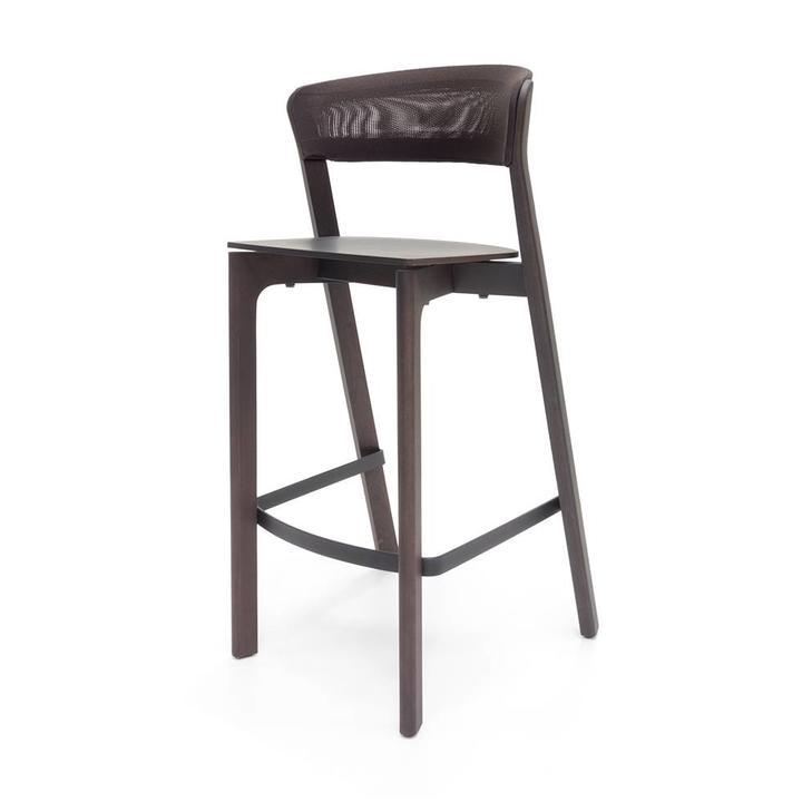SALE | Arco Cafe Stool | Sitzhöhe 75 cm | Eiche morado