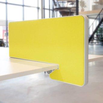 Vitra OP=OP | Vitra Joyn zijscherm | 77 x 39 cm | Geel / pastelgroen plano