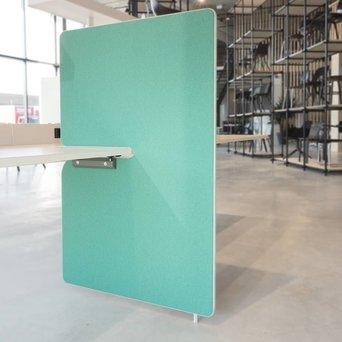 Vitra SALE | Vitra Joyn zijwand | 80 x 122 cm | Mint / wald plano | Hellgrau kunststoff