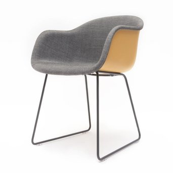 Muuto SALE | Muuto Fiber Armchair | Ocker kunststoff | Grau remix 152