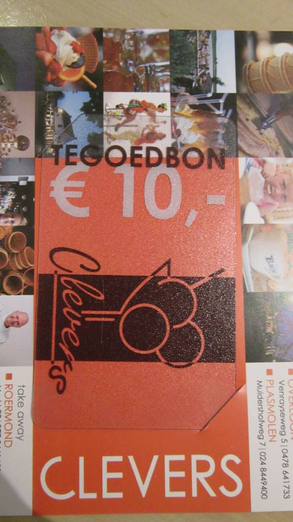 Clevers ijsbon € 10,00