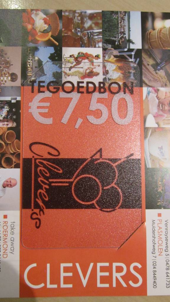 Clevers ijsbon €7,50