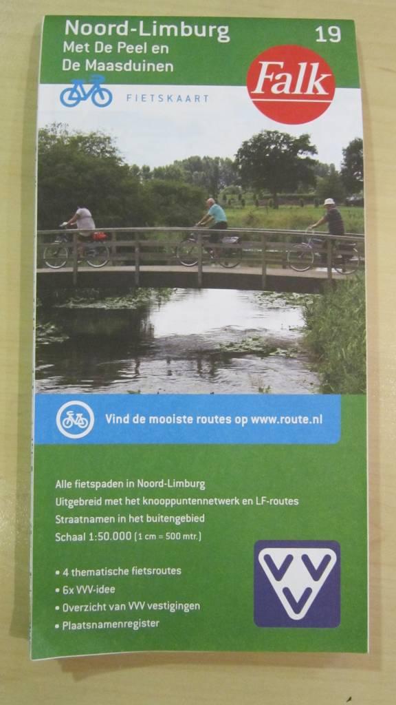 Fietsknooppuntenkaart Noord Limburg ( Falk)