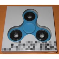 Fidget Spinner lichtblauw/zwart