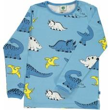 Smafolk shirt baby Dino blauw