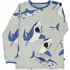 Smafolk shirt Shark grijs