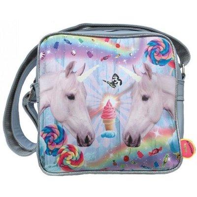 De Kunstboer squarebag twee Unicorns