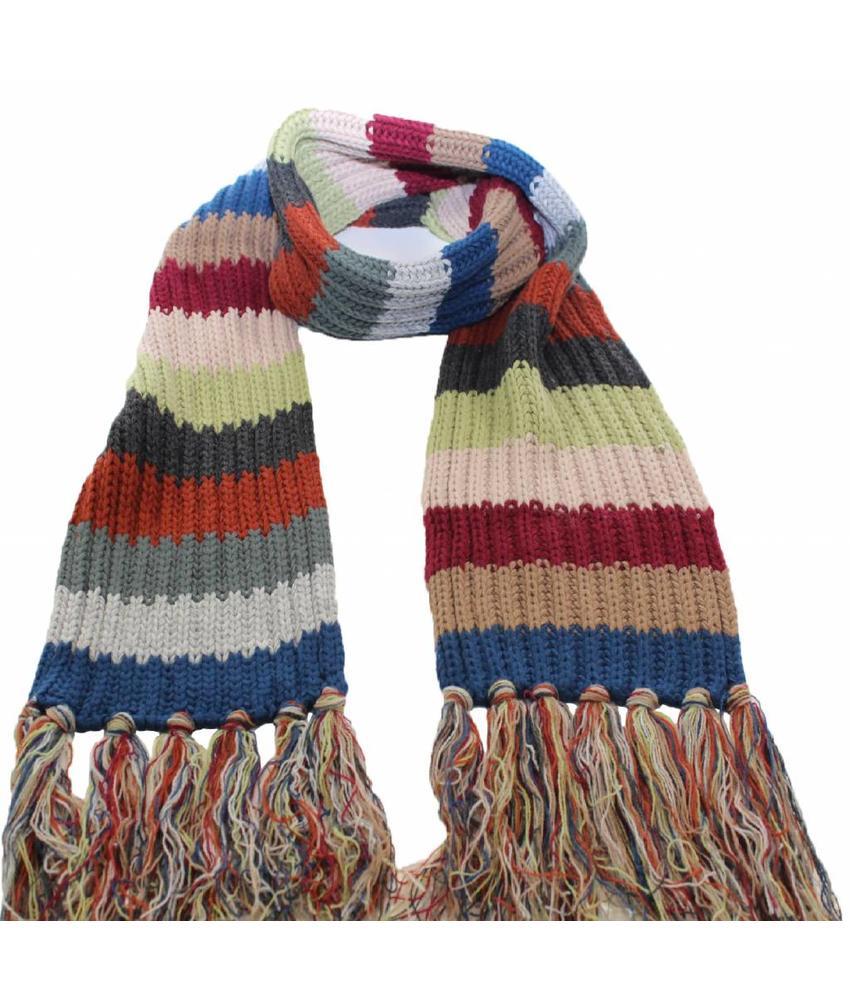Sjaal gebreid streep