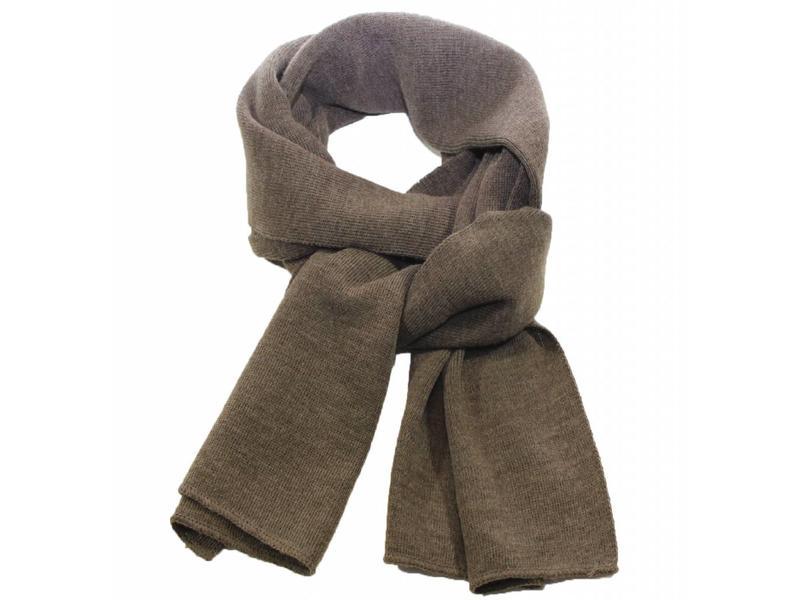 Sjaal gebreid effen taupe bruin - Bruin taupe ...