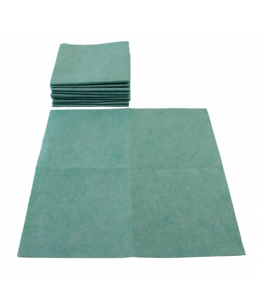 Viscose Vaatdoek Groen 10 st. 40 X 38 cm.