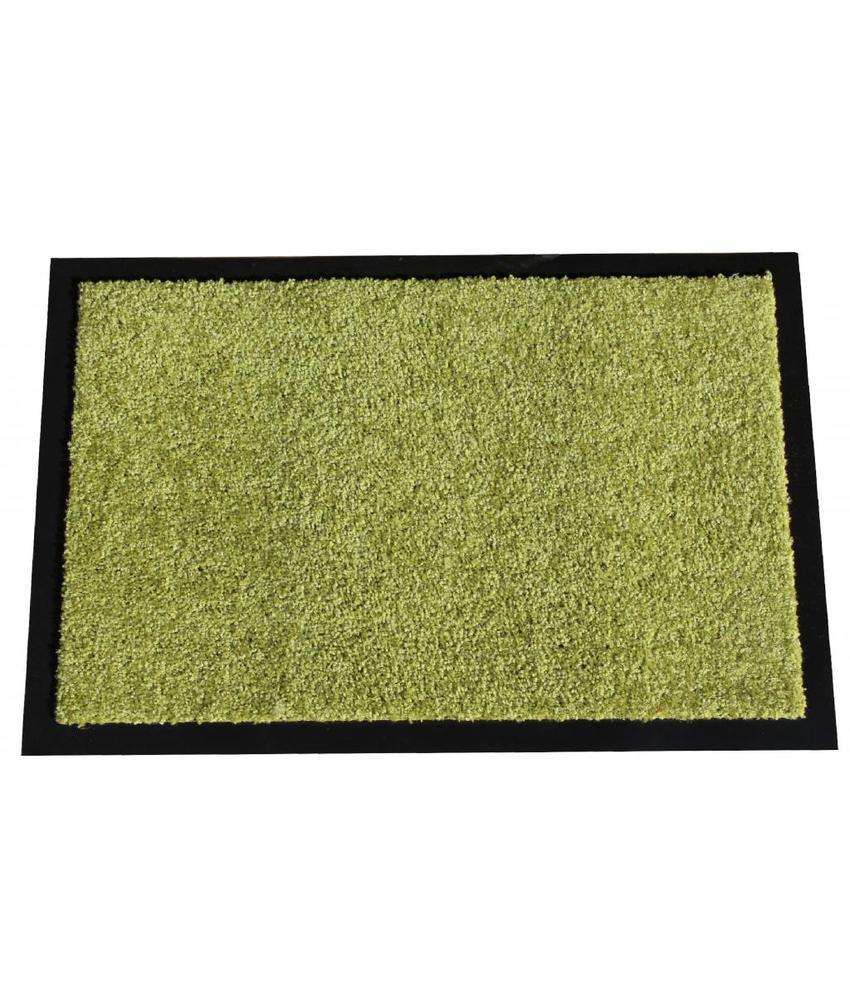 Wasbare schoonloopmat limoen Groen 40x60 cm.