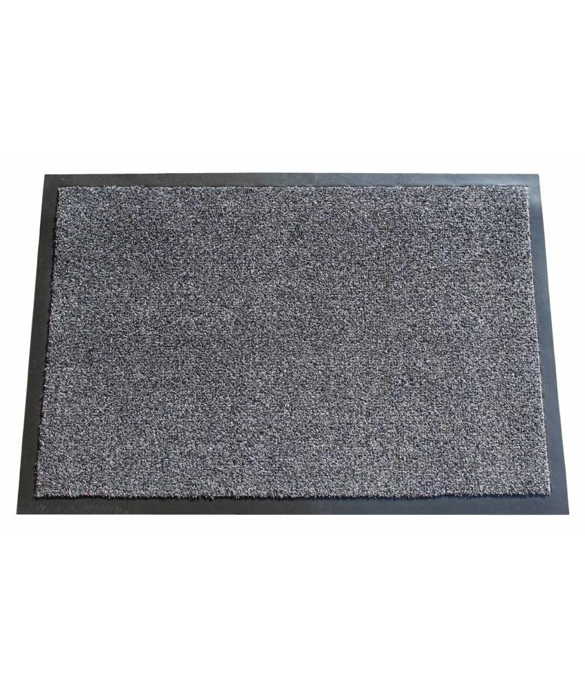 Wasbare schoonloopmat Anthracite 40x60 cm.